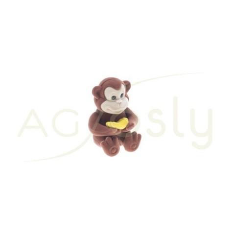 Estuche para anillo, modelo mono de color marrón.