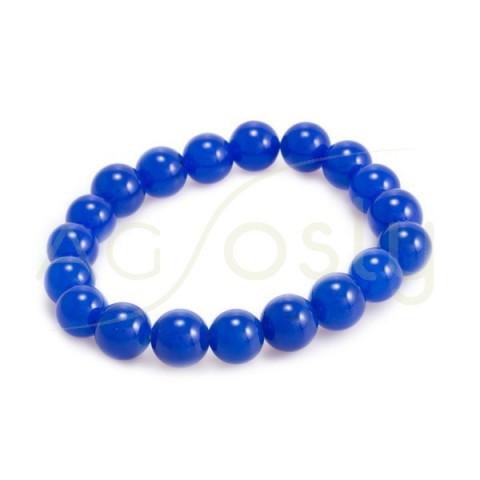 Pulsera elastica con piedra azul electrico