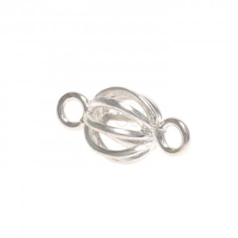 Pieza de montaje bola hilo con dos anillas.8mm