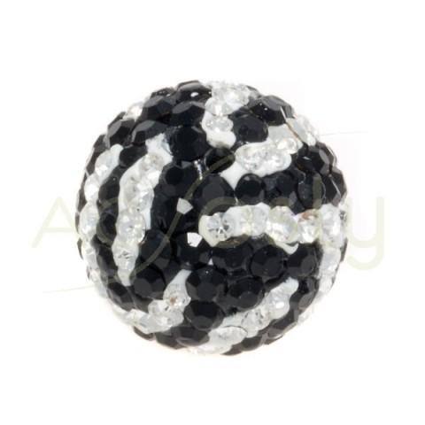 Bola cristal blanco/negro.14mm