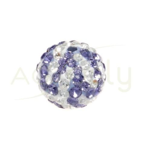 Bola cristal blanco/lila.10mm