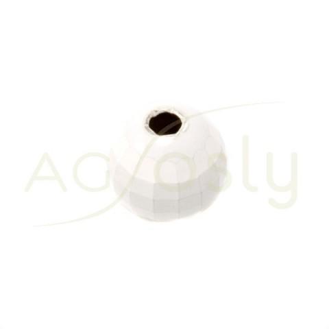 Bola plata modelo discoteca blanca.10mm int.2,4mm