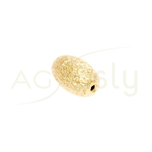 Pieza de montaje, plata chapada diamantada de forma oval.10mm