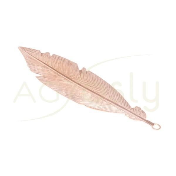 Pieza de montaje chapado rosa modelo pluma grande.57mm