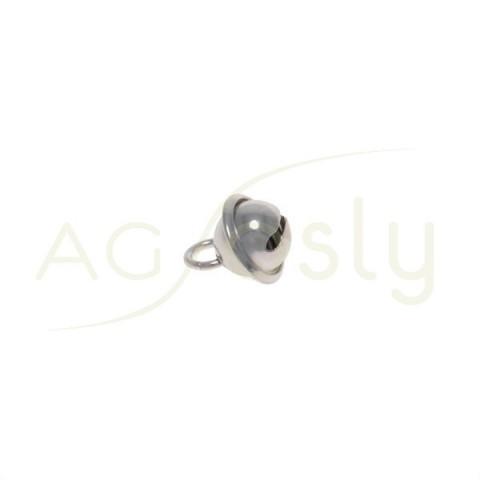 Pieza de montaje en plata modelo cascabel.7mm