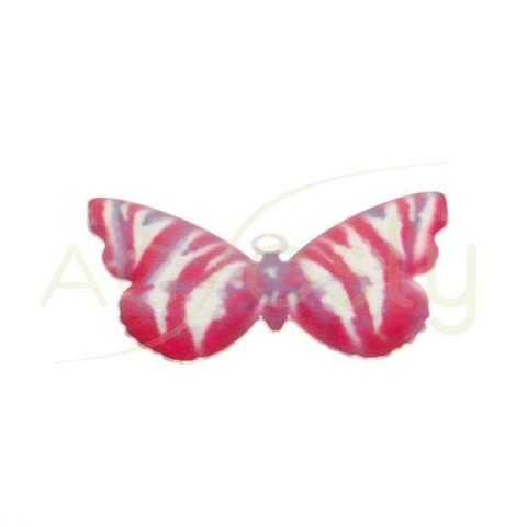 Pieza de montaje esmalte modelo mariposa roja.28mm