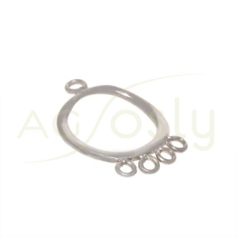 Pieza de montaje redonda de 1 a 4 anillas.25mm