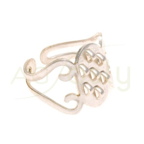 Anillo ajustable con anillas de (15,0x9,0mm)