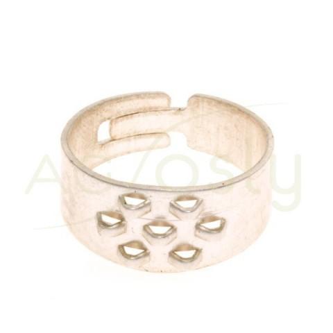 Anillo con anillas de (12,0x9,0mm)