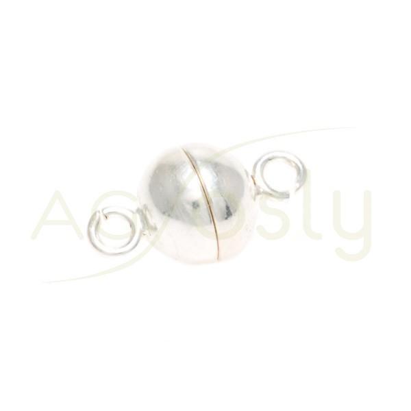 Cierre iman modelo bola con anillas.8mm