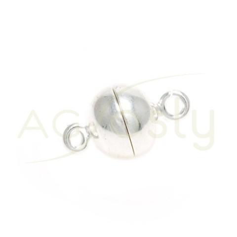 Cierre iman modelo bola con anillas.10mm