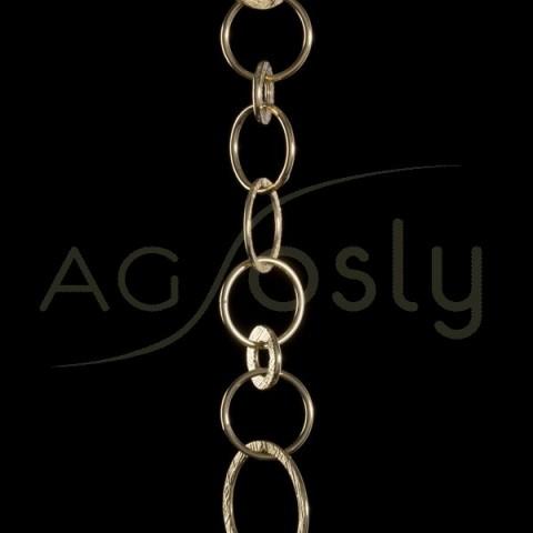 Cadena oro fantasía 7058 sin montar.(50cm)