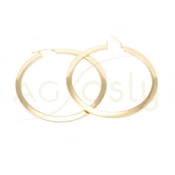 Criollas plata dorada planas 50mm