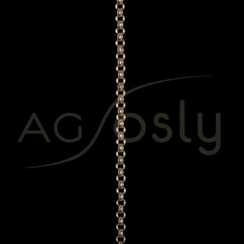 Cadena oro rolo hueca 035 en 42cm.