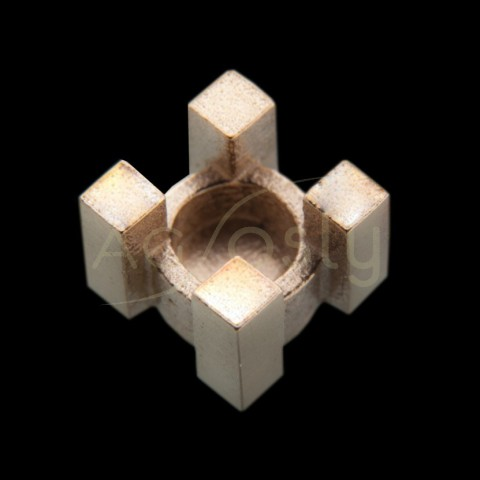 Galeria cuadrada, oro blanco.5,6mm