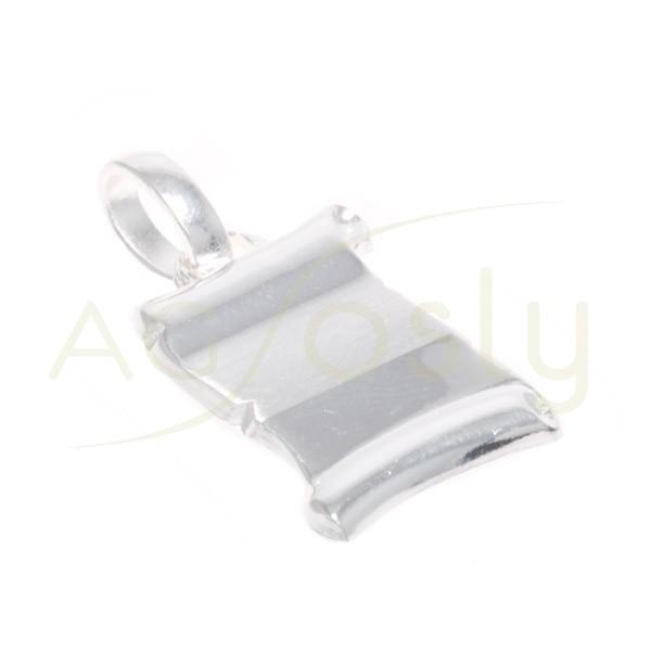 Placa plata modelo pergamino.22x17mm