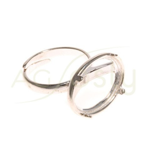 Base anillo galeria oval.20x15mm