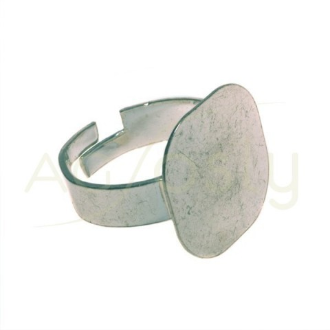 Base anillo plano cuadrado.base 18mm