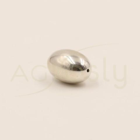 Pieza de montaje plata lisa, modelo oval.19mm Int.1mm