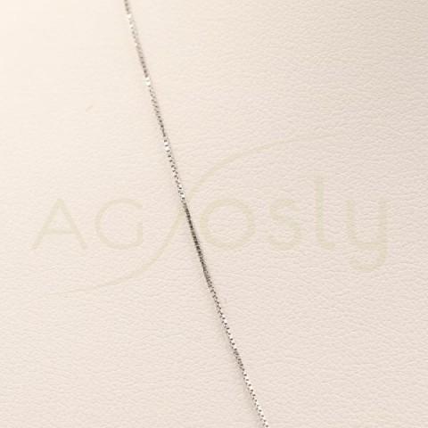 Cadena de oro blanco Veneciana 42ctms