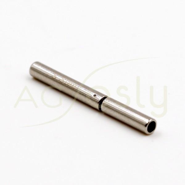 Cierre acero modelo alemán.1,2mm largo.18mm