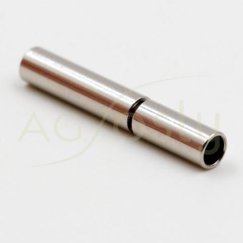 Cierre acero modelo alemán.2,5mm largo.18mm