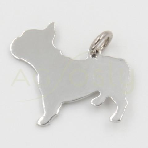 Colgante perro Carlino de plata