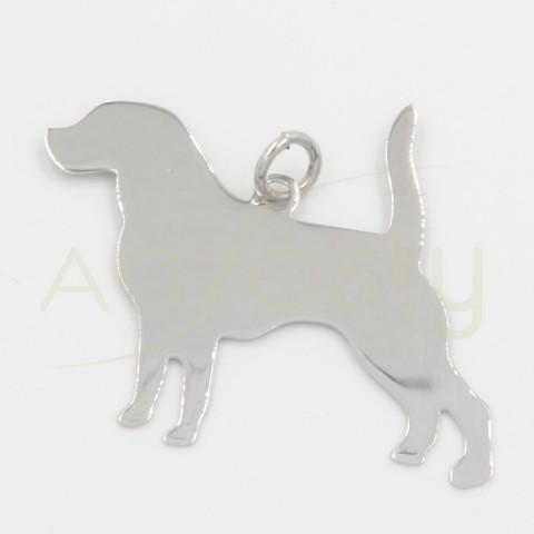 Colgante de plata, silueta perro Mastín, grande