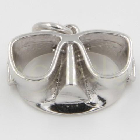 Colgante de plata, con forma de gafas de buceo