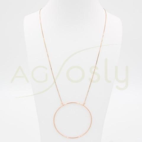 Collar Círculo en plata dorada
