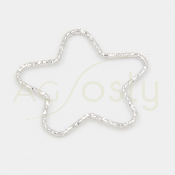 Entrepieza de plata en forma de estrella