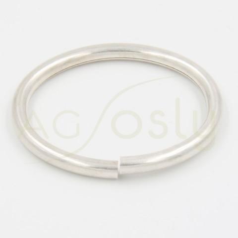 Esclava tubo flex en plata 6.0mm