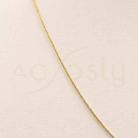 Cadena de Oro Amarillo snake 008 en 40cm.
