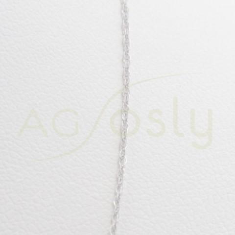 Cadena de oro blanco modelo fantasía de 42cm