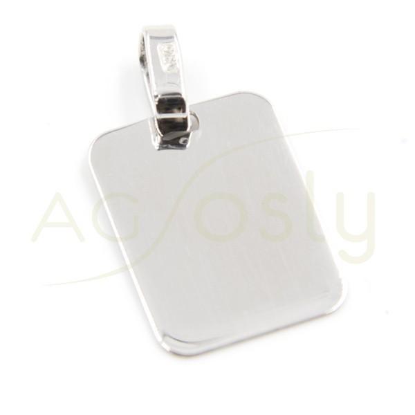 Placa de plata modelo AG tamaño 16 X 12 mm