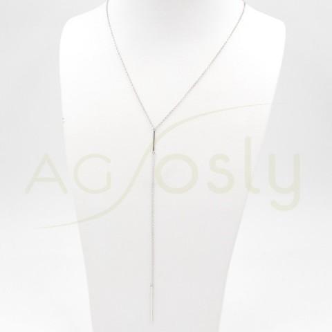 Colgante de plata modelo AG estilo corbata