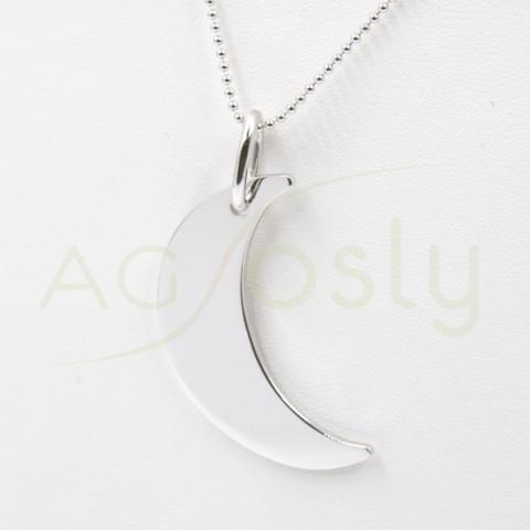 Collar de plata modelo AG en forma de Luna
