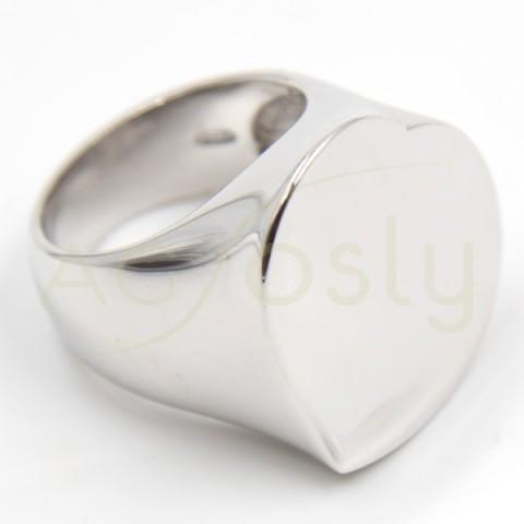 Anillo de plata en forma de corazón, modelo AG
