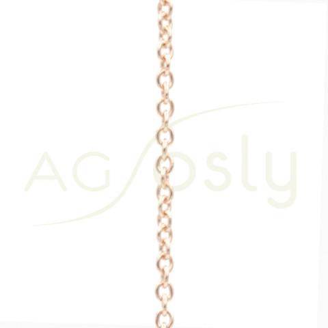 Cadena de oro rosa forzada 50cm