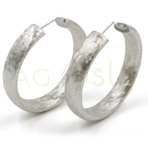 Criolla de plata satinada de 40mm de diámetro