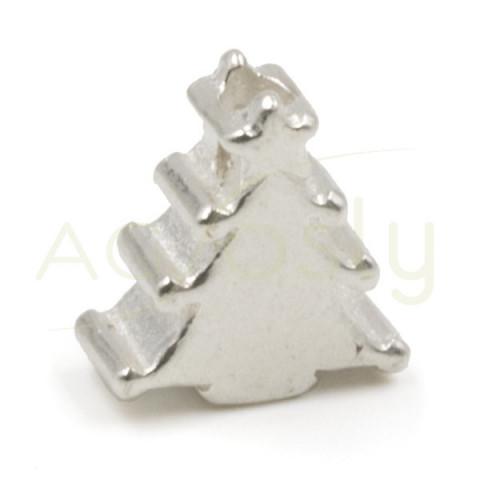 Entrepieza de plata arbol de navidad