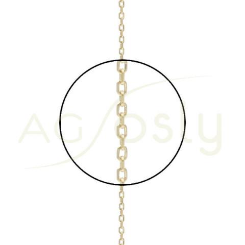 Cadena forzada diamantada 25 en 40cm