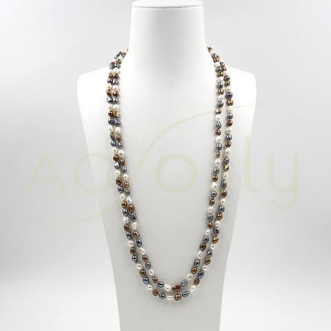 Collar de Perlas Bicolor