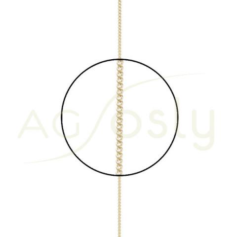 Cadena oro grumeta diamantada 020 40cm.