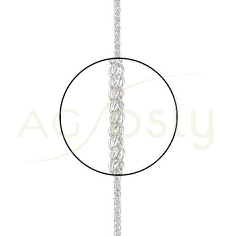 Cadena oro blanco modelo spiga 8565 en 40cm.