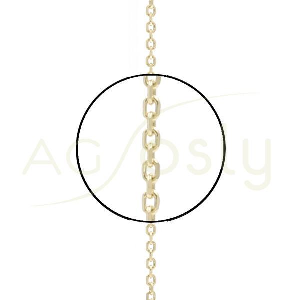 Cadena oro forzada diamantada 035 en 40cm.
