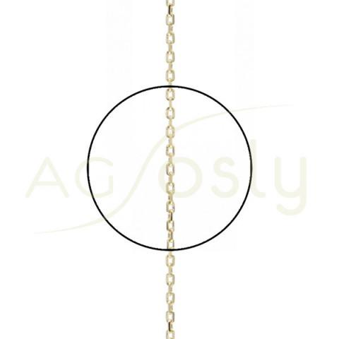 Cadena forzada diamantada 030 en 40cm.