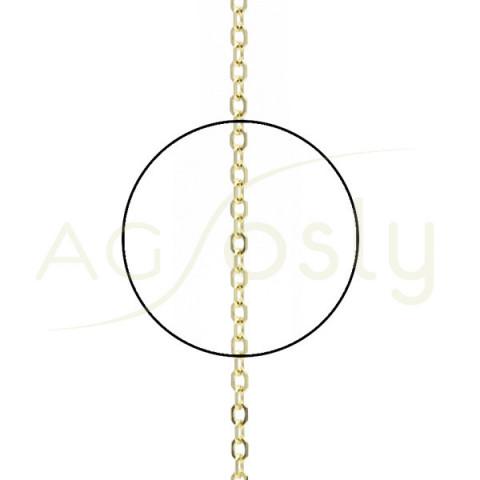 Cadena rolo de oro montada en 40cm
