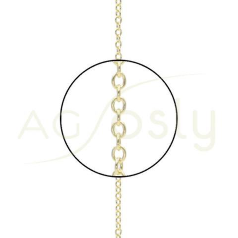 Cadena de oro forzada montada en 42cm
