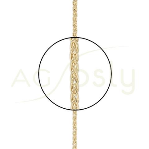 Cadena modelo Spiga diamantada en 40cm
